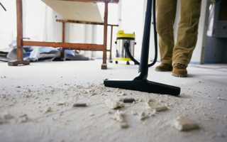 Клининг после ремонта-эффективное устранение строительной смеси