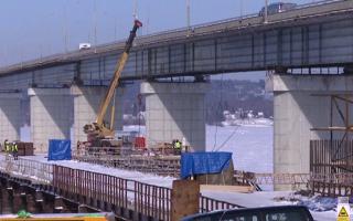 На Чусовском мосту завершено строительство первой русловой опоры