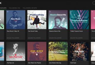 Смосервис: воспроизведение плейлиста в Spotify