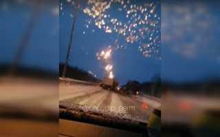 Появилось видео ДТП на Западном обходе в Перми