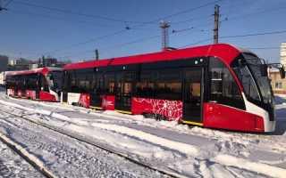 В Пермь привезли еще два трамвая модели «Львенок»