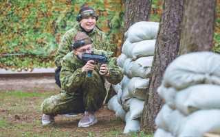 Военный лазертаг: игра с помощью стрелкового оружия