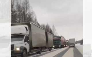На трассе М-7 «Волга» в Пермском крае образовалась огромная пробка